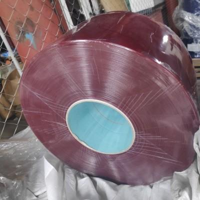 ПВХ лента для завесы (красная полупрозрачная)