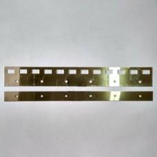 Пластина нержавеющая 300 мм для завесы